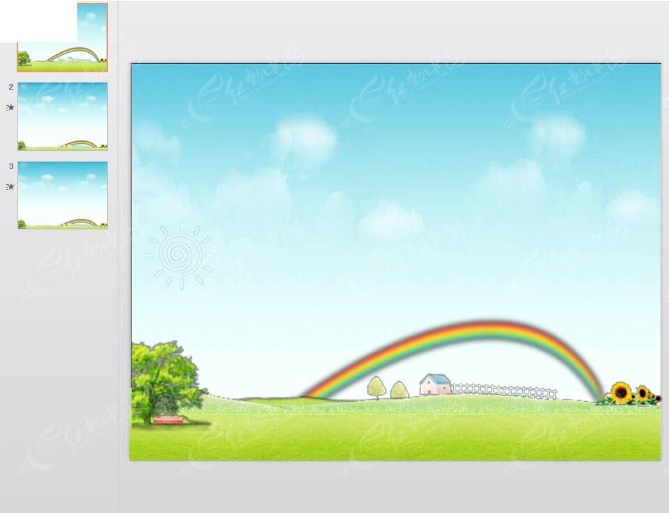 乡村美景动画ppt免费下载图片