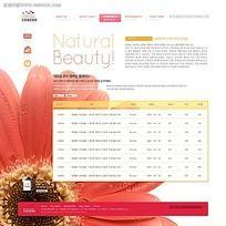 菊花背景公司网页模板