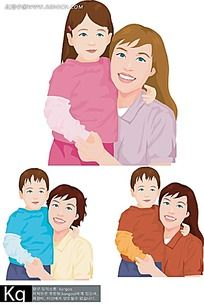 母子人物插图