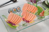 三文鱼刺身美食