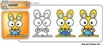 小老鼠卡通时尚矢量人物插画