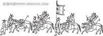 出征的古代小人韩国矢量人物漫画