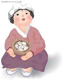 韩服老奶奶插图