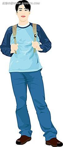 韩国背包少年插图