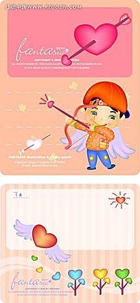 射箭丘比特小人韩国矢量漫画