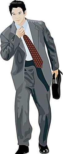职业西装男士插图