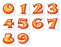 0-9饼干造型数字