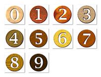 0到9质感立体数字