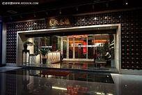 金冠酒店入口外观效果图