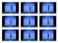 蓝色背景舞蹈素材