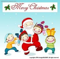 圣诞老人和小孩子韩国漫画