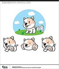 小狗卡通手绘