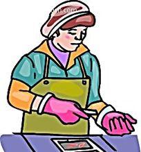 削土豆的女子卡通手绘