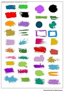 多彩笔刷正方形韩国系列水墨底纹