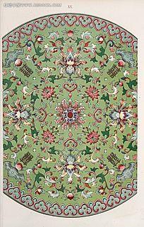复古传统圆形花纹图例