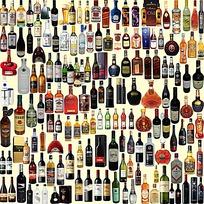 各种瓶装酒抠图素材