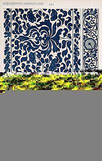 蓝色传统华夏装饰图例