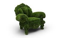 绿色草坪装饰立体沙发