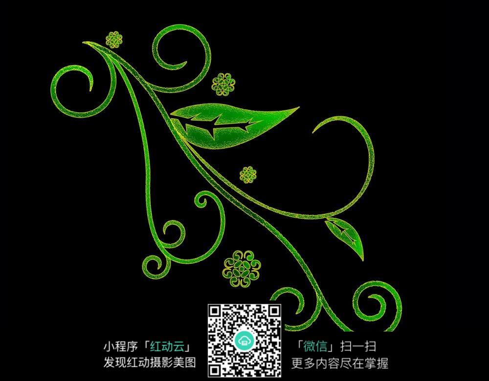 绿色植物花纹图片素材jpg_花纹花边图片