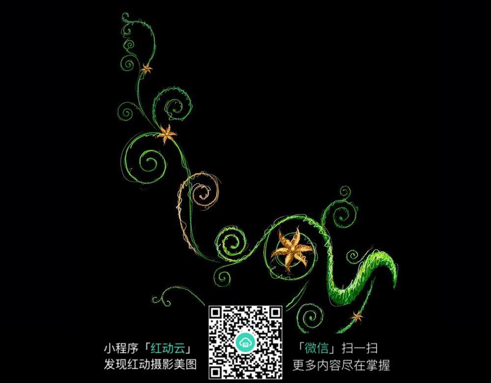 免费素材 图片素材 背景花边 花纹花边 手绘花朵植物花纹jpg  请您