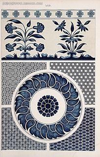 植物多种花纹图例