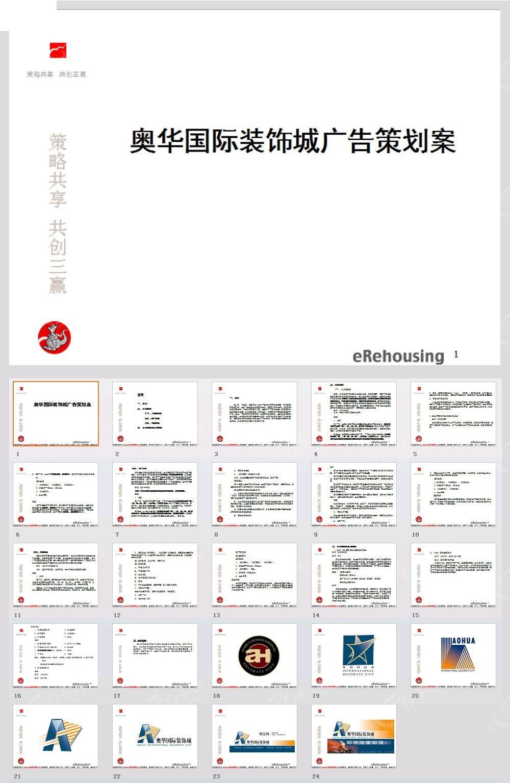奥华国际装饰城广告策划案PPT模板_策划营销