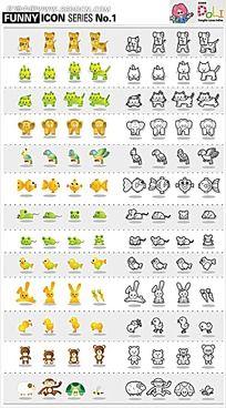 动物矢量图卡通矢量动物插画