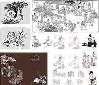 古代人物线描图合集