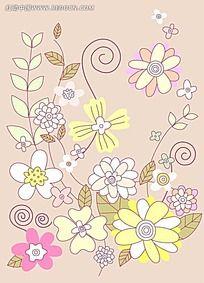 花朵藤蔓矢量素材