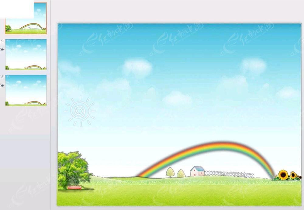 卡通农庄动画模板ppt免费下载图片