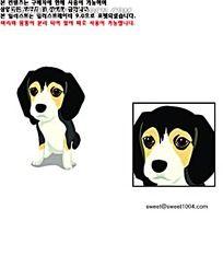 可爱的小狗狗韩国矢量动物插画