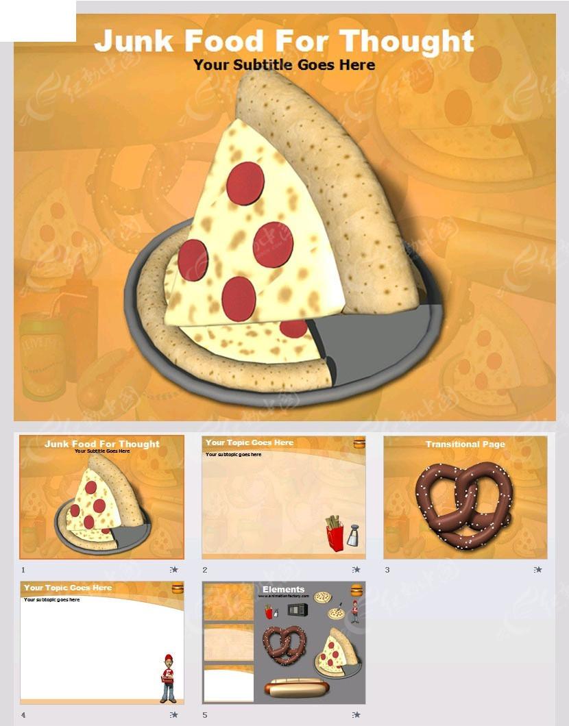 美食ppt模板免费下载_其他ppt素材图片