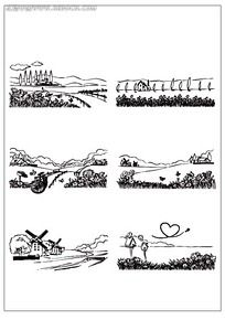 欧式田园插图