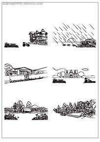 欧式田园建筑插图