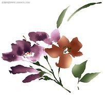 水墨花卉素材