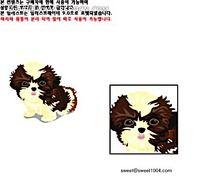 泰迪犬小狗狗韩国矢量动物插画