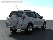 白色SUV效果图