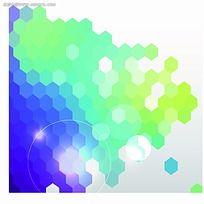 彩色六角形商业背景素材