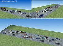 车辆行驶效果图