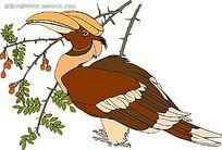 吃果实的大嘴鸟时尚漫画