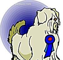 戴奖牌的大型狗韩国动物漫画