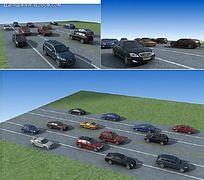 公路行驶汽车效果图
