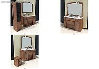 木质洗手台效果图