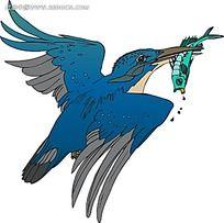 抓鱼的翠鸟时尚漫画