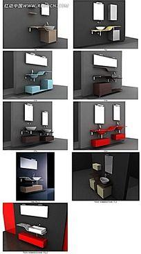 组合式洗手台立体模型