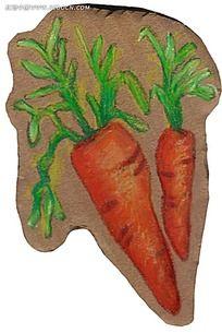 彩色手绘胡萝卜
