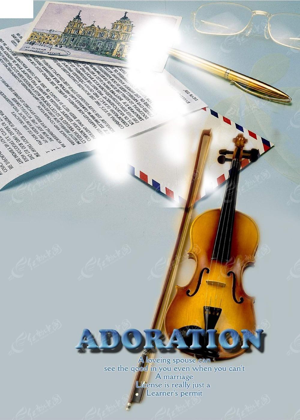 简约安静创意音乐海报图片