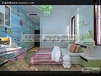 家庭儿童卧室效果图