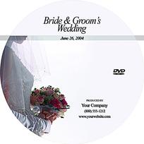 手捧玫瑰花的美丽新娘光盘盘面