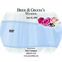 鲜艳玫瑰花与白纱背景光盘盘面